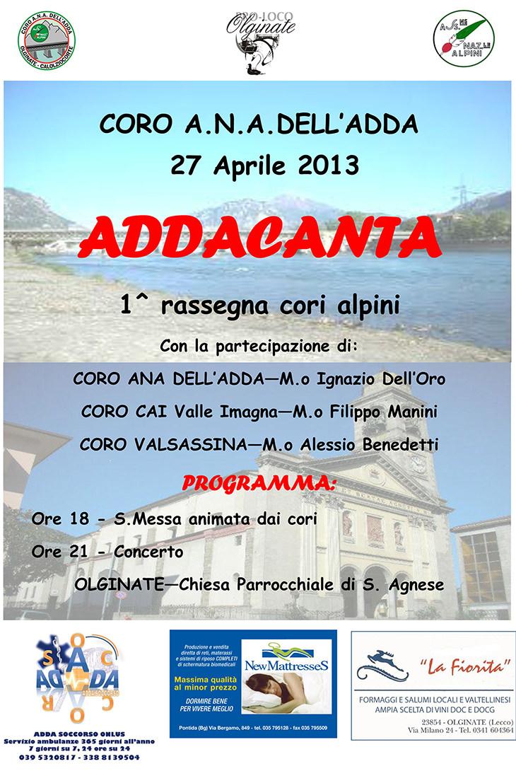Coro CAI Valle Imagna live@ADDACANTA